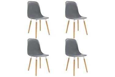 Spisestoler 4 stk grå plast