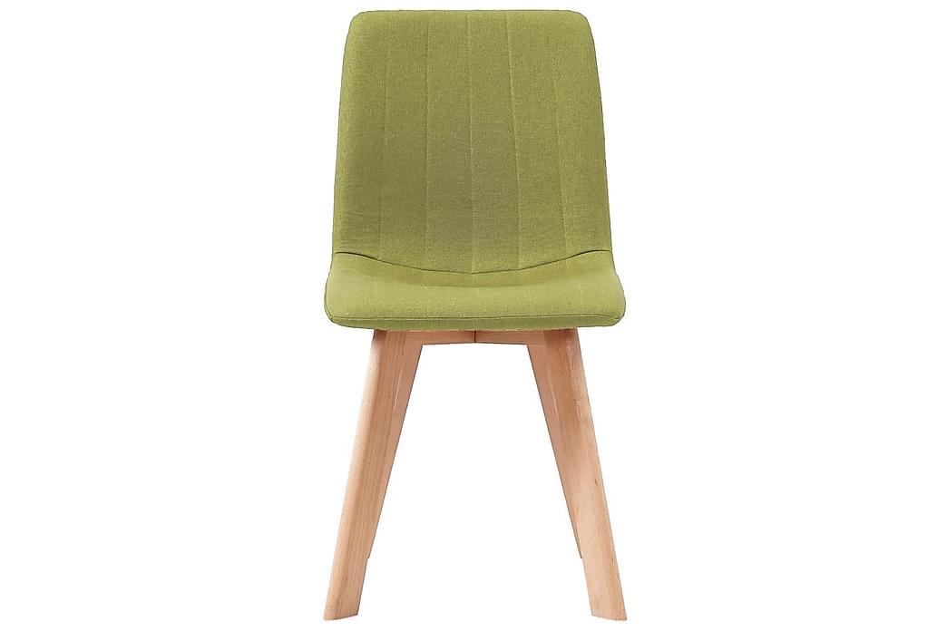 Spisestoler 4 stk grønn stoff - Møbler - Stoler - Spisestuestoler & kjøkkenstoler
