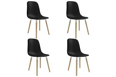 Spisestoler 4 stk svart plast