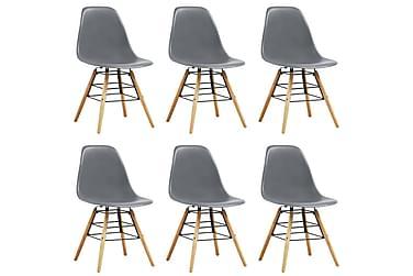 Spisestoler 6 stk grå