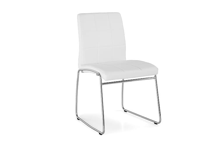 Tirza Spisestol Kunstlær - Hvit - Møbler - Stoler - Spisestuestoler & kjøkkenstoler