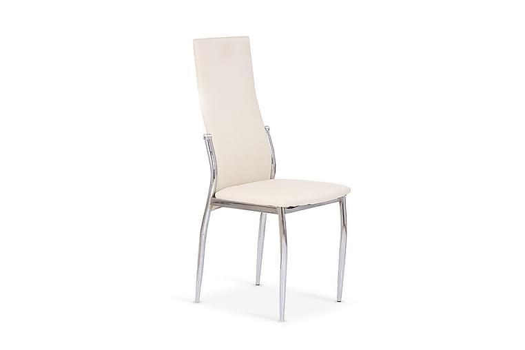 Weis Spisestol Kunstlær - Hvit - Møbler - Stoler - Spisestuestoler & kjøkkenstoler