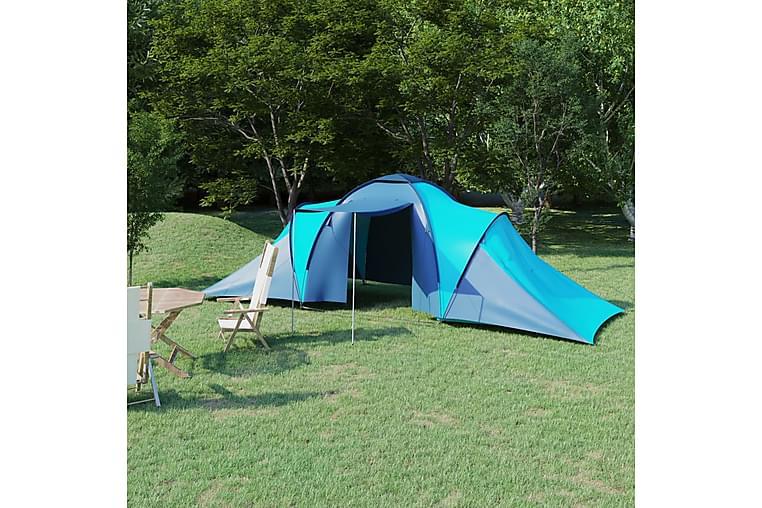 Campingtelt 6 personer blå og lyseblå - Blå - Sport & fritid - Camping & vandring - Telt