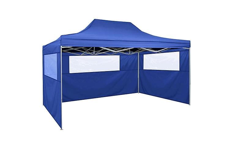 Sammenleggbart telt med 3 vegger 3x4,5 m blå - Sport & fritid - Camping & vandring - Telt
