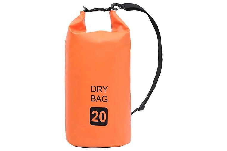 Tørrsekk oransje 20 L PVC - Sport & fritid - Camping & vandring - Friluftskjøkken & campingkjøkken