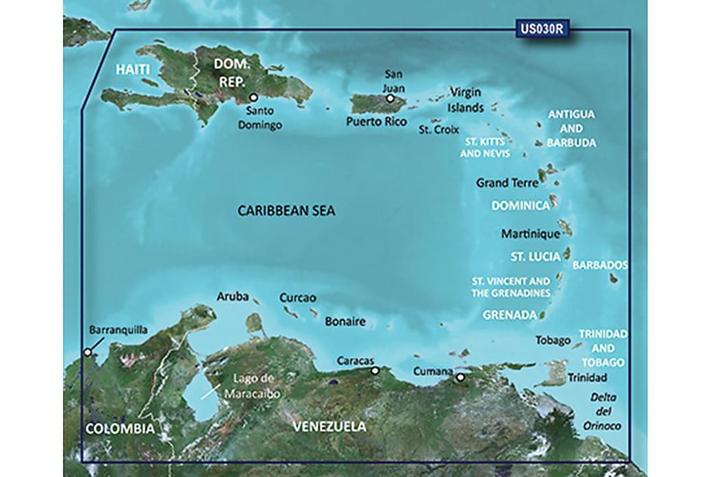 Southeast Caribbean HXUS030R - Garmin BlueChart g3 mSD / SD - Sport & fritid - Friluftsliv - Sykler