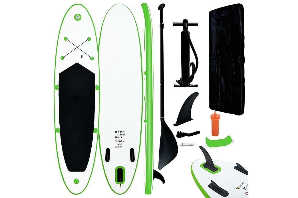 Oppblåsbart padlebrettsett grønn og hvit - grønn - Sport & fritid - Hjemmetrening - Treningsutstyr
